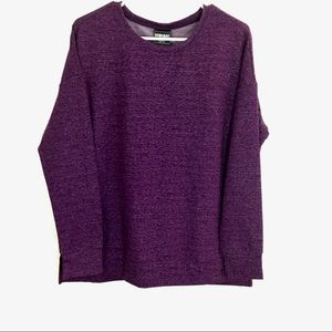 32 Degrees Purple Fleece Long Sleeve Ladies Top